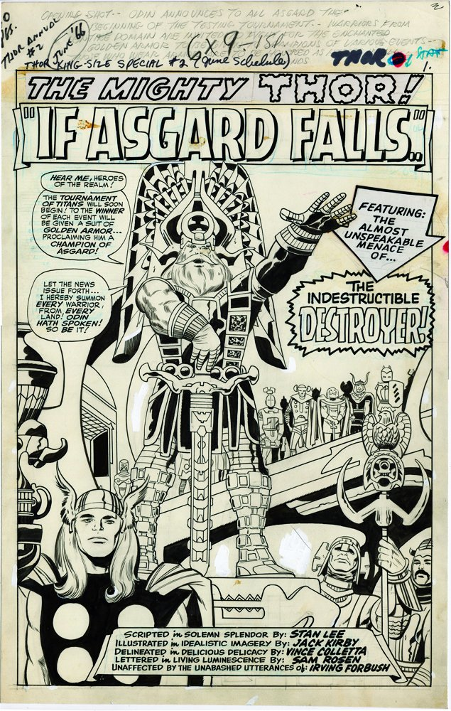 Splash page to one of six(!) complete Jack Kirby Thor stories in the upcoming Artist's Edition from @IDWPublishing https://t.co/eZJlkvGkFS