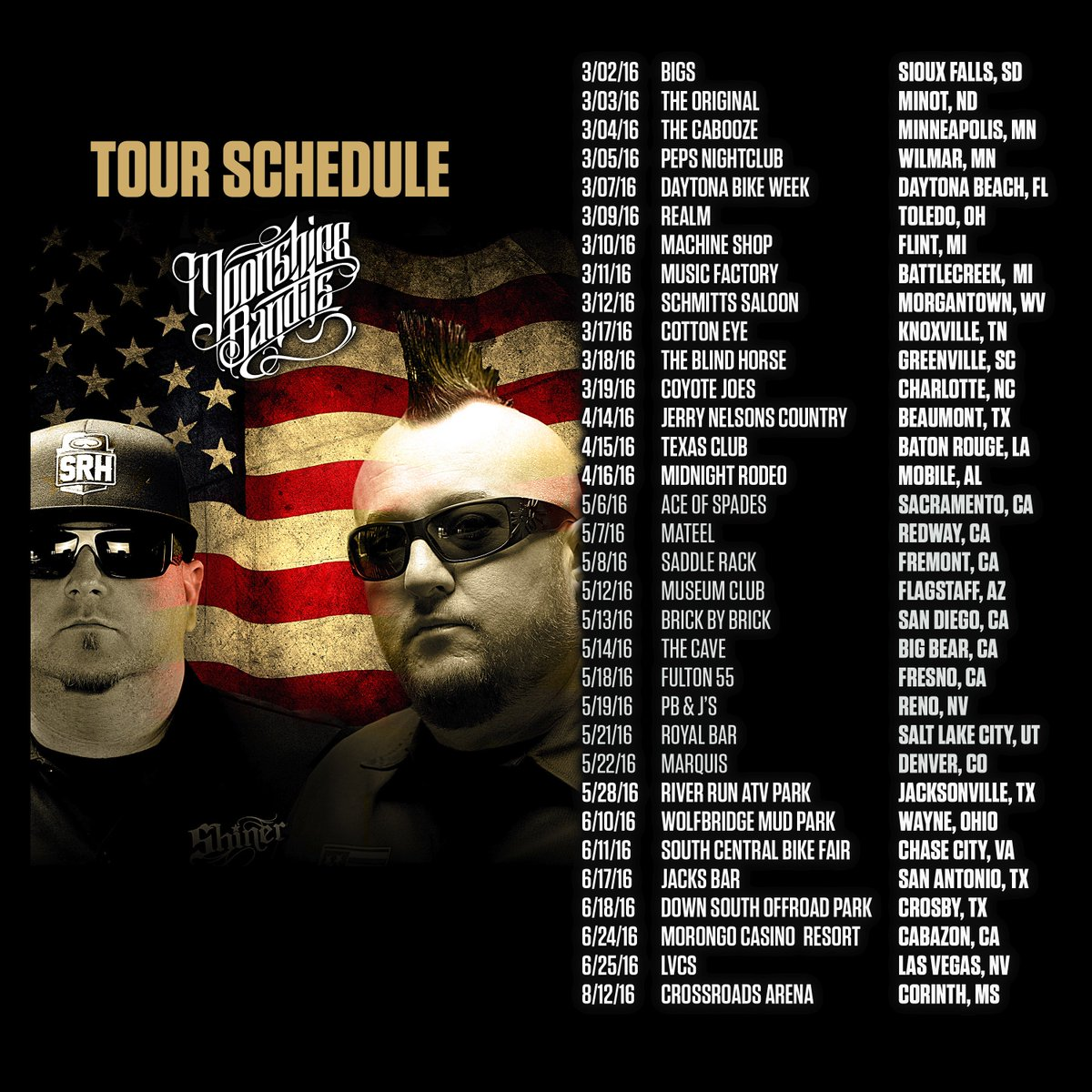 All of our 2016 Shows...More being Added.  All Across America. Hoping to Add Australia and Canada. https://t.co/TvZ8Yl81PM