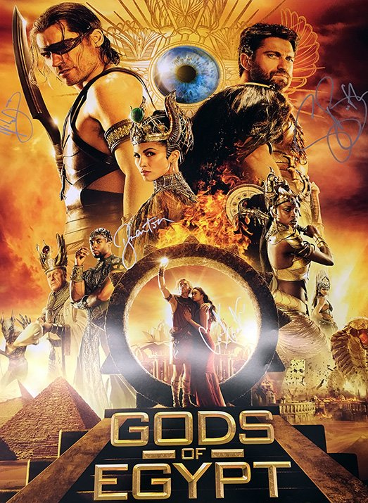 RETWEET to WIN this Gerard Butler signed @GodsOfEgypt poster - In theaters Friday! Tix: https://t.co/Iwrcs5ER4a. https://t.co/5F0xl809sl