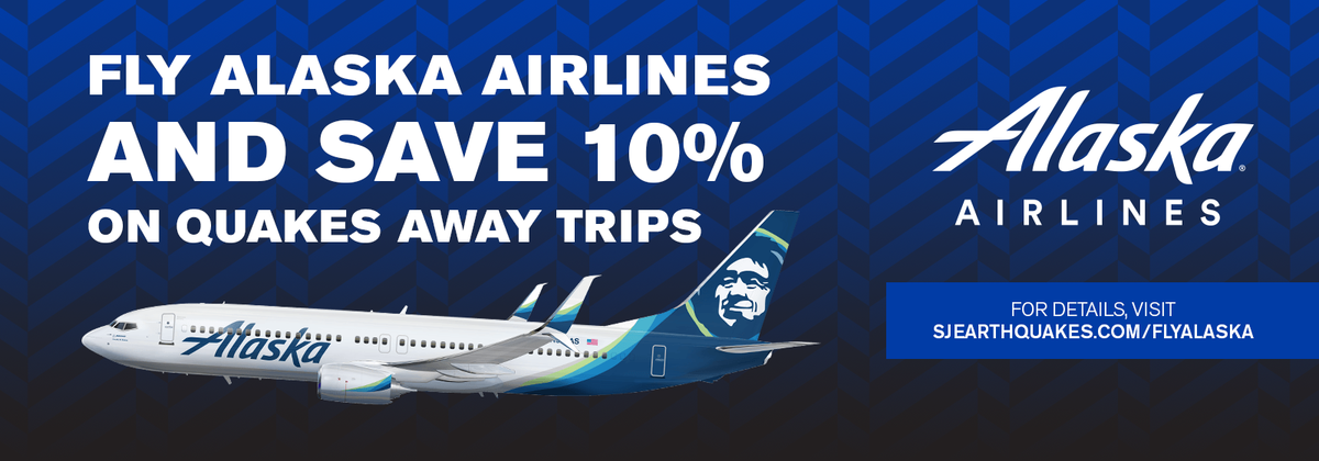 RT @SJEarthquakes: Support us out on the road! Quakes74 fans can save on @AlaskaAir flights to away matches: https…