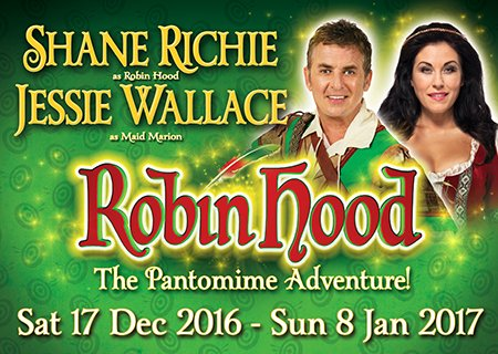 ROBIN HOOD STARRING SHANE RICHE & JESSIE WALLACE are coming to Southampton in South Coast's biggest family panto https://t.co/tQUqw2OO4h