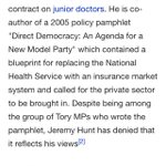 Next time youre ill will u visit a junior doctor or gods gift to Cockney rhyming slang @Jeremy_Hunt #savetheNHS https://t.co/4RFQNwFQAc