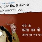 Investors lose Rs 3 lakh crore as Sensex falls 800 pts. Time for PM Modi to give up Jumlanomics for Economics. https://t.co/Okor3ZMdth