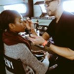 @RomeroJennings with @MACcosmetics backstage at @CGStudioNYC @made @nyfw #nyfw #fw16 https://t.co/U8HvrHqzOH