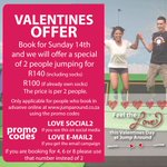 @WotzupCapeTown Check Out Out V Day Special #DayDate #ValentinesDay #241 #CapeTown #TrampolinePark #AllAges https://t.co/8aYDWzQAiD