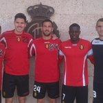 Nuevos capitanes del primer equipo, por este orden: Aveldaño, Yuste, Cabrero, Company y Pereira. https://t.co/glufVpGu0Y