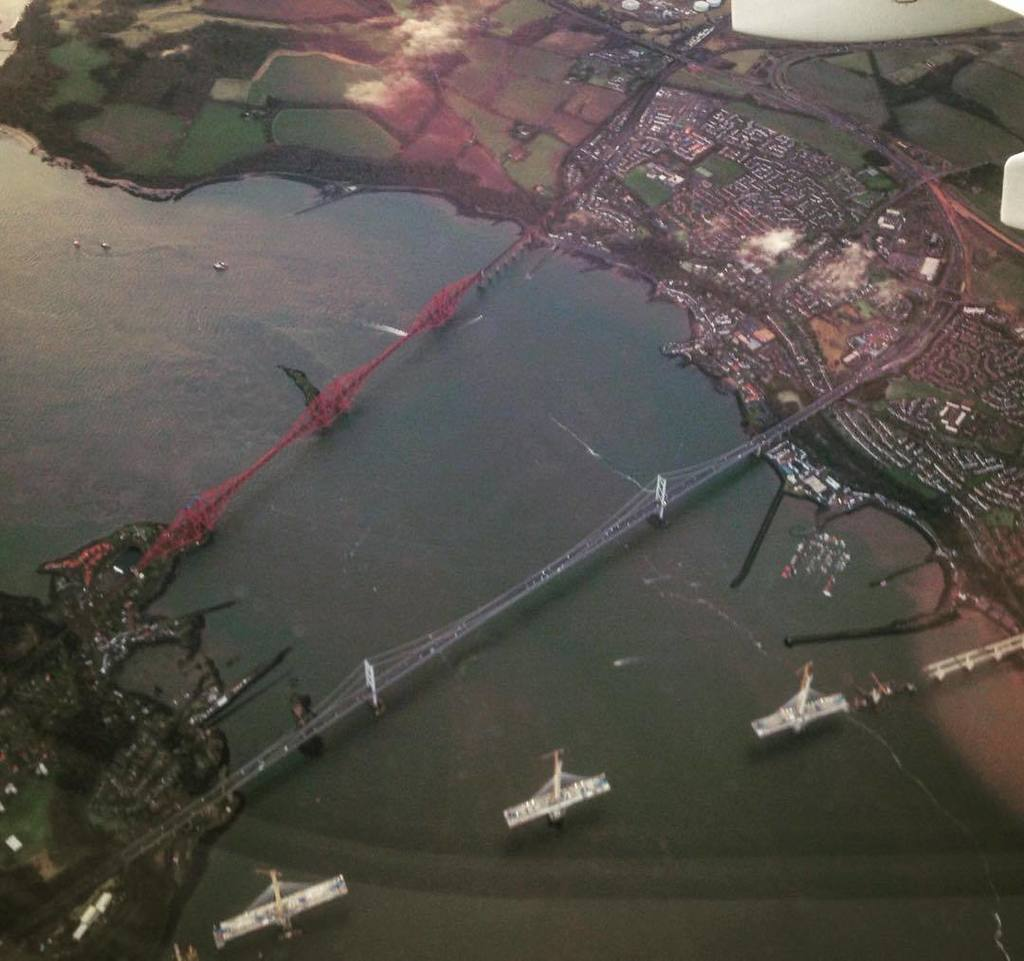 Aerial update on your progress @forthroadbridge - 'yer welcome