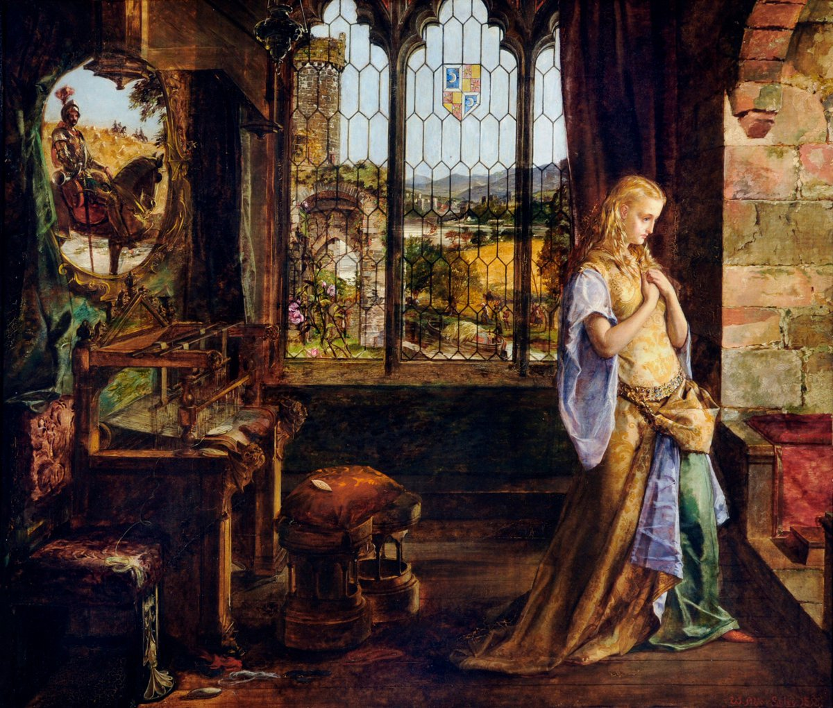 Today we're joining @NationalGallery #PaintedLovers - here's 'The Lady of Shalott' by William Maw Egley, 1858. https://t.co/YQoujT6p4q