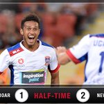 HT | @NewcastleJetsFC hold a rare lead on the road after an end-to-end first half. Thoughts #BRIvNEW #BeautifulGame https://t.co/mGiL7oGTkX