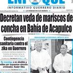 ¡Buenos días! Te presentamos nuestra portada Enfoque Diario de este viernes 12/02/2016 #Acapulco #Chilpancingo https://t.co/sEeZbXjJ2A
