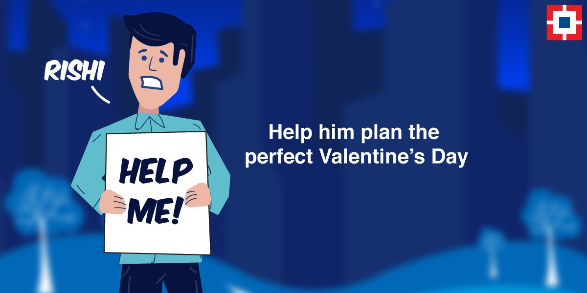Rishi wants to plan the perfect Valentine's Day. He needs your help. Join us at 4:30PM to know more #SpoiltForChoice https://t.co/h5fx4l8A9i