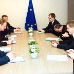 Meeting with #UKinEU sherpas @ElmarBrok_MEP, @GuyVerhofstadt and @gualtierieurope ahead of next weeks #EUCO. https://t.co/ImojZGmy0Q
