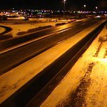 Highway 401 clear and wet this morning. Watch for plows on side roads as cleanup continues. #LdnOnt https://t.co/OGLFjoC4Ya