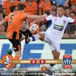 FULL TIME! We record a credible 2-2 draw with @brisbaneroar at Suncorp Stadium. #BRIvNEW #ALeague https://t.co/HWxDmZSyYU