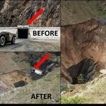 I dont think people realise the scale of the Lily Mine collapse. #LilyMine #Sinkhole https://t.co/CAdgRjBlAN