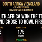 So De Villiers has called correctly and SA will field first on #PinkDay #ProteaFire #MomentumODI #SAvENG https://t.co/LR1O4Hbldp