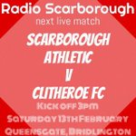 Tomorrow @safc v @ClitheroeFC live here on @twelfthmanradio KO 3pm #safclive https://t.co/T6MHQYDPdp