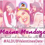 Guys, mention @mainedcm on your tweet and use our OHT to get a personalized E-card from her. #ALDUBValentinesDate https://t.co/CTFOkMj5Rx