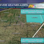Lake Effect Snow Advisory For Parts of the WFMJ Viewing Area. Details: https://t.co/k9Xb47jxER
