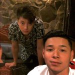 Angelo with Lloyd & Mark at the PSY Finale party. ???? © patsugui KATHNIEL Asias EmergingLoveTeam #VoteKathrynFPP #KCA https://t.co/durE1BeNFf