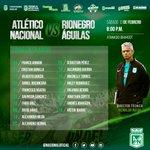 El verde concentró a estos 18 jugadores para el partido de mañana ante Rionegro Águilas. #VamosNacional https://t.co/b5EAXRbJVa