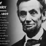 Happy Birthday, President Lincoln. Abraham Lincoln was born on this day in 1809... https://t.co/GhnmGXF7ki