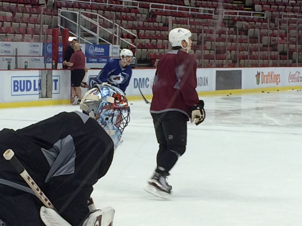 Think they're taking #redwings #Avs alumni game seriously? Patrick Roy & Joe Sakic work out at JLA Friday. https://t.co/5YGEcGqo6s