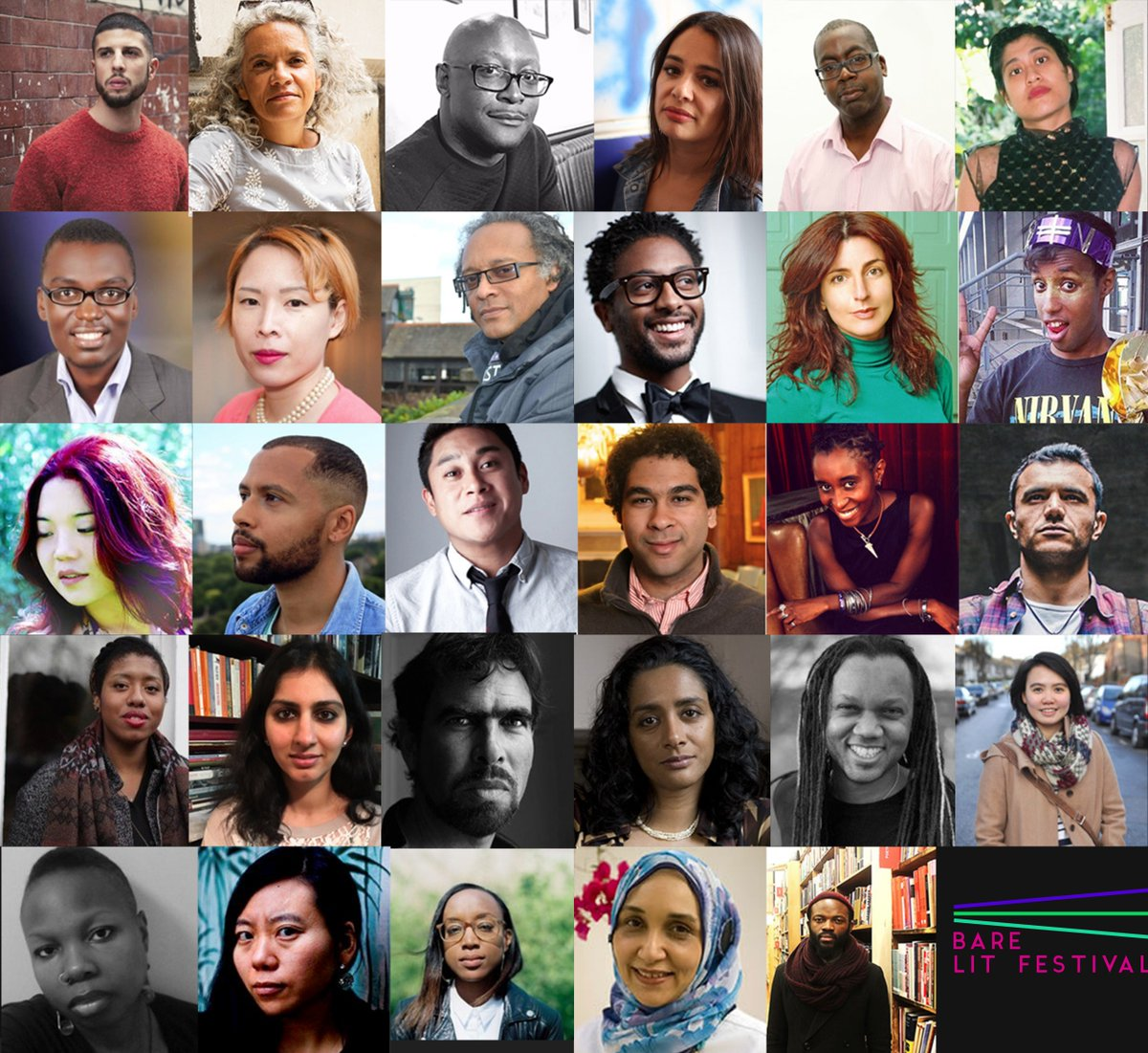 """This is going to be great. """"@BareLit: Our lineup is FIRE"""