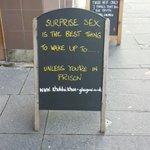 A rape joke outside a restaurant just yards from Glasgow Rape Crisiss door - no joke.  https://t.co/oWTNILelyx https://t.co/duTIsbqDwN