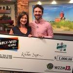 Congrats @valerielego & Jeff #13NearlyWed winners! $1,000 goes to @KitchenSageGr @wzzm13 https://t.co/ch7y947DU7