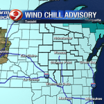 Wind Chill Advisory for the whole state. Ends tomorrow morning. Bundle up out there! https://t.co/0zCOASkMhN
