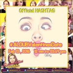 Our Official Hashtag for today: This is it... #ALDUBValentinesDate @mainedcm @aldenrichards02 @MAINEnatics_OFC https://t.co/RdRyjFZiKq