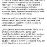 Prohlášení TV Prima zaslané mailem: https://t.co/WwE25hvvfn