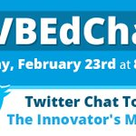 Please join us for our next #VBEdChat inspired by the book The Innovators Mindset by @GCouros! #WeAreVBSchools https://t.co/q3q1vrSZQg