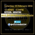 This is it..first valentinesdate ni @aldenrichards02 at @mainedcm #ALDUBValentinesDate https://t.co/5BYC9nEvno