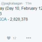 UPDATE from @pagkalaagan , tweet counts for today. ALDUBValentinesDate #VoteMaineFPP #KCA https://t.co/dUCqog6FtP