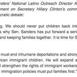 Sanders Campaign Statement on Clinton's Immigration Comments https://t.co/QG9cssCcKH