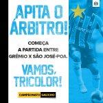 Bola rolando na Arena! Pra cima deles, Grêmio! #Gauchão2016 #VamosTricolor #GRExSJO https://t.co/ZsaZve4fh9