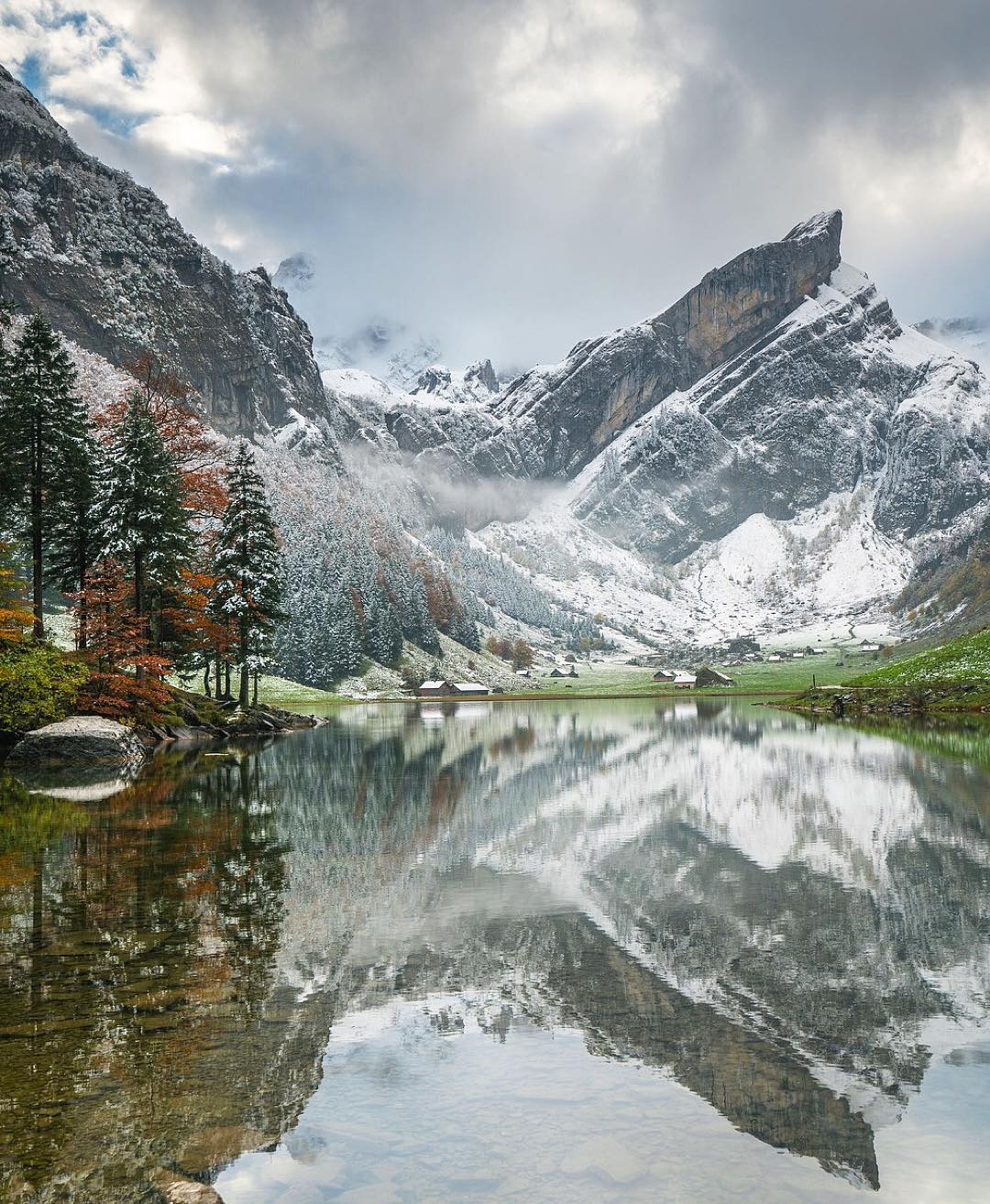 Reflections in the Swiss Alps   Photo by @chrisburkard https://t.co/MRVMBAADeK