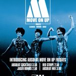 Move On Up with Absolut Fridays! £3 Absolut mix £3.50 Absolut cocktails Free entry before 10pm! #Glasgow #FW https://t.co/IG4Lg7PaPf
