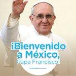 Damos la bienvenida al mensaje de paz y esperanza que trae a México el Papa Francisco. #PapaEnMex https://t.co/BwKH50MDJj