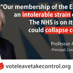 Top cancer expert warns that our continued EU membership will put NHS under huge pressure #Vote Leave to #SaveOurNHS https://t.co/fJL5thH8mz