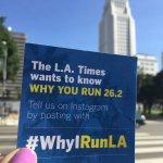 Whos running the #LAmarathon this Sunday? Tell us your story with #WhyIRunLA. @lamarathon https://t.co/N0pjkGQ4xm