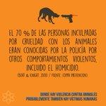 Donde hay violencia contra los animales, probablemente también hay víctimas humanas. #AlertaConLaViolencia https://t.co/XxA5G9gCiS