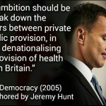 Jeremy Hunt co-authored book calling for NHS to be replaced by private insurance #SaveOurNHS https://t.co/lrU9ZStHFK https://t.co/FZgrYmqGSC