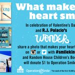 What makes your heart smile? Share a photo with #smilekind & @randomhousekids will donate $1 to help #healsmiles! https://t.co/YrtF7LOEOV