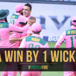 SA WIN! Great escape as Tahir hits the winning runs and the series is level 2-2 #PinkDay #ProteaFire https://t.co/o02q1t7wtG