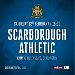 TOMORROW: Were away at Scarborough Athletic tomorrow. KO 15:00 https://t.co/NqnyzGRCqy