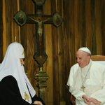Patriarca Kirill y Papa Francisco efectúan histórico encuentro en La Habana. #Cuba #CubaEsPaz https://t.co/bZhHrK8HlN