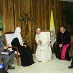 El Patriarca Kirill y el Papa Francisco efectúan histórico encuentro en La Habana. #Cuba #CubaEsPaz https://t.co/Qf8eZAz0zx